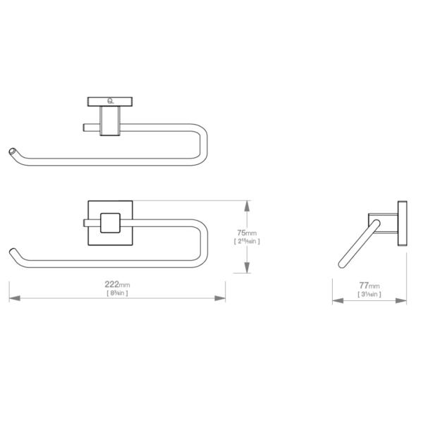 LR2441 LR Elemental Open Towel Ring_Stiles_TechDrawing_Image