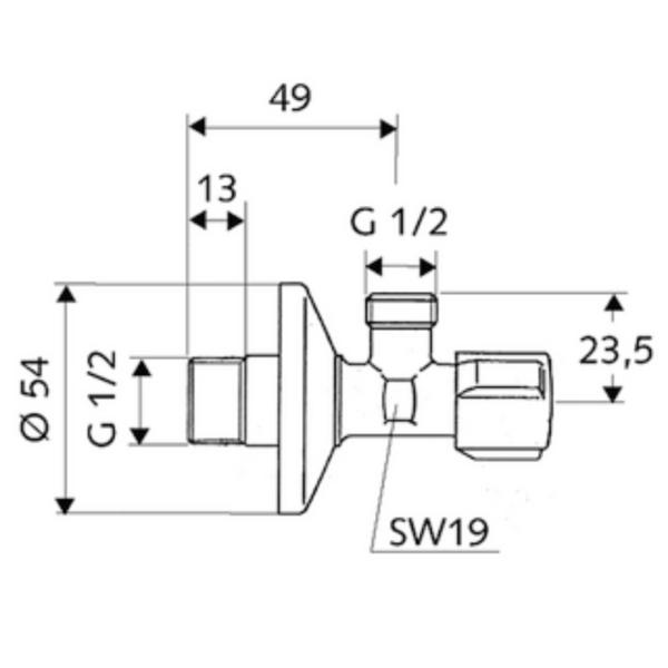 SL054360699 Blanco Schell 15x15 Regulating Angle Valves_Stiles_TechDrawing_Image