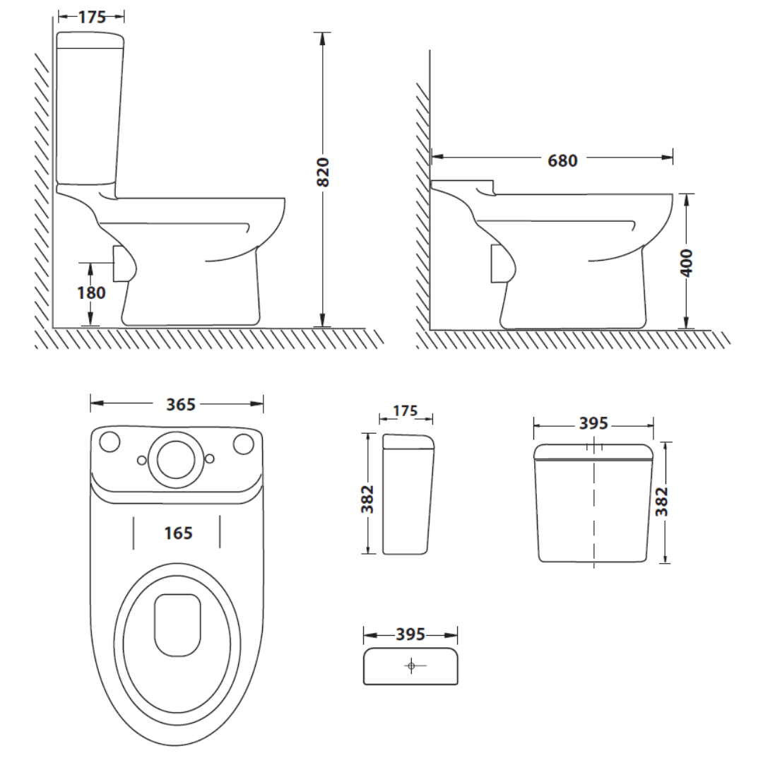TCI408A Betta Iqwa CC suite with seat_Stiles_TechDrawing_Image