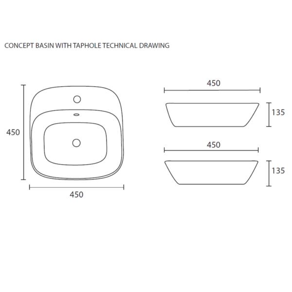 WBFLN016A Betta Concept FS Basin_Stiles_TechDrawing_Image