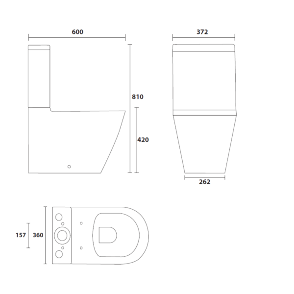 XTOCE16A Betta Oceano BTW CC suite with soft close seat and cover_Stiles_TechDrawing_Image