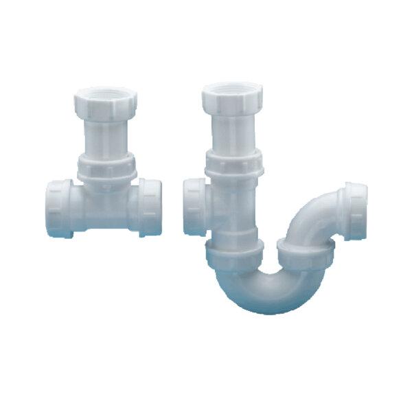 dutton_DB16A_SINK P-TRAP DBL COMBINATION PVC 40MM_Stiles_Product_Image