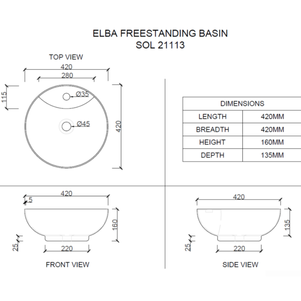 sol21113 Macneil Solo Elba Basin_Stiles_TechDrawing_Image