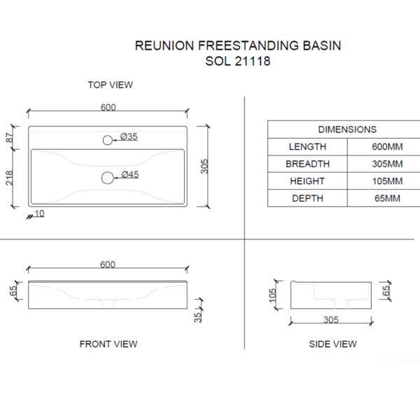 sol21118 Macneil Solo Reunion Basin_Stiles_TechDrawing_Image