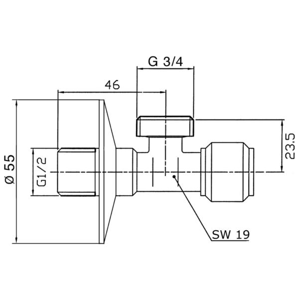 7301234 Benkiser 15mmx3_4 Washing machine Angle Valve_Stiles_TechDrawing_Image